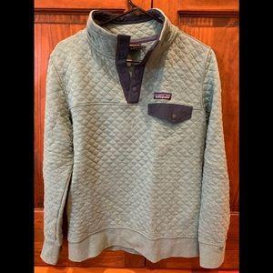Patagonia organic quilted sweatshirt